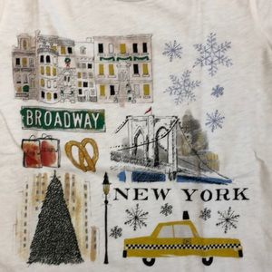 J.Crew Christmas in New York City Graphic Tee